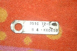 Ford Mustang 351c Engine Tag