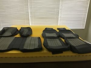 97 02 Pont Trans Am Seat Covers Matching Door Panel Inserts In Ebony W Pewter