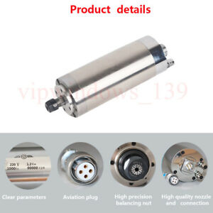 Water cooled 1 2kw Spindle Motor 60000rpm High Speed Er11 1000hz 220v Cnc Router
