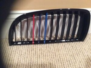 Bmw E90 M Grilles Left And Right Gloss Black 325 328 335