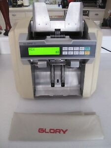 Glory Gfr 110 Mixed Us Currency Counter discriminator Reads Bills 1 100 Works