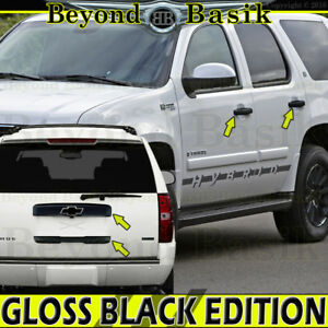07 14 Chevy Tahoe Suburban Gloss Black Upper Lower Liftgate door Handle Covers