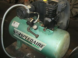 Air Compressor 3 Hp Speedaire 4b237b 9 4 Cfm 135 Psi 30 Gallons 1997