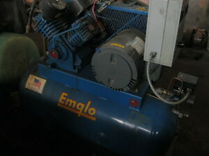 Air Compressor 3 Hp Emglo Dc3a 30 9 4 Cfm 135 Psi 30 Gallons 1995