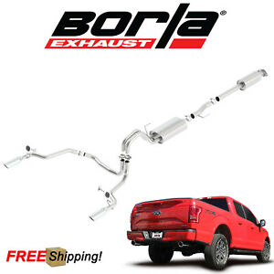 Borla S type Cat back Performance Dual Exhaust 15 19 Ford F150 5 0l V8 Coyote