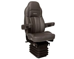 Legacy Silver Gray Ultra Leather Seat Semi Truck Grey 188900mw65