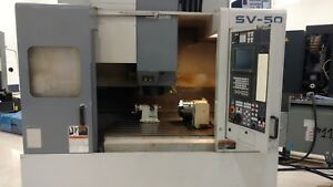 Used Mori Seiki Sv50 Cnc Vertical Machining Center Mill 4th Axis Msc 518 Ct40 96