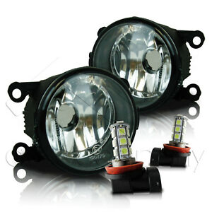 For 2013 2014 Ford Fusion Replacement Fog Lights W Led Bulbs Clear