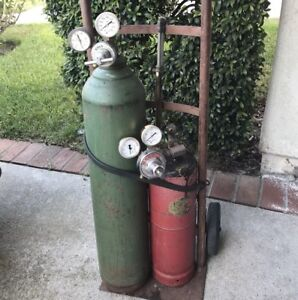 Oxy Acetylene Full Tanks W Regulators And Firepower Wh ca 250 Cutting Torch