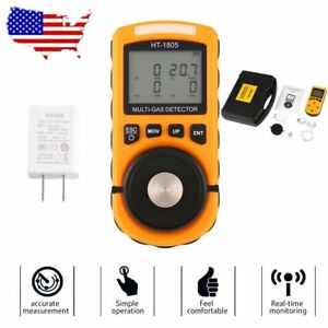 4 In 1 Gas Detector Co O2 H2s Oxygen Lel Gas Monitor Testing Analyzer Meter New