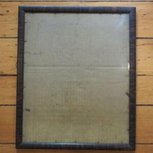 Vintage 14 X 17 Wood Picture Frame W Glass