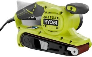 Ryobi Portable Belt Sander 3 in. x 18 in. Tool-Less Belt Changing Lock-On Switch