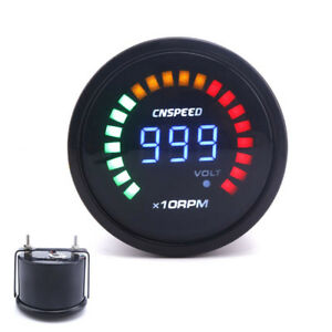 2 Inch 52mm Auto Car 20 Led Light Digital 0 10000 Rpm Tachometer Gauge Meter