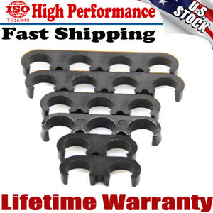 New 6x Plastic 7mm 8mm Spark Plug Wire Separators Dividers Looms For Chevy Ford