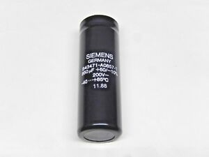 850 Uf 200v Siemens Electrolytic Capacitor B43471 a0857 t Lot Of 1 Pcs