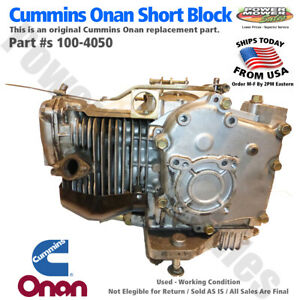 Onan Generator Parts Engine Short Block 100 4050 Missing Head