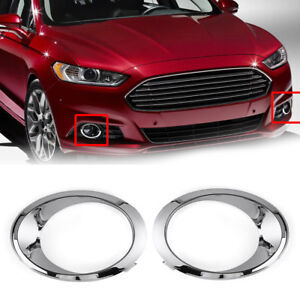 1pc Chrome Fog Light Cover Bezel Trim Ring Fit For Ford Fusion Mondeo 2013 2016