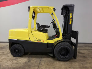 2007 Hyster H110ft 11000lb Dual Drive Pneumatic Forklift Diesel Lift Truck Hi Lo