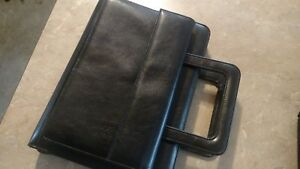 Classic Black Franklin Covey 365 Zipper Planner Binder Organizer Leather