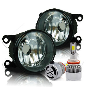 For 2013 2014 Ford Fusion Replacement Fog Lights W c6 Led Bulbs Clear