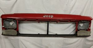 87 96 Jeep Cherokee Xj Sport Classic Header Panel Grill Support Genuine Oem Red