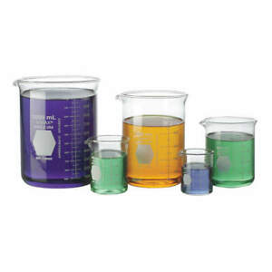 Kimble Kimax Griffin Beaker Set low Form 50 To 1000ml 14080 01