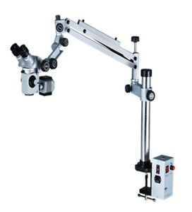 Dental Tiltable Head Microscope In 5 Step With Motorized Foot Focusing Led Ligh