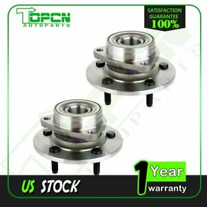 2 Pcs Front Wheel Bearing And Hub Assembly For Dodge Ram1500 2000 2001 4wd 5 Lug