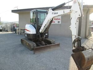 2013 Bobcat E35m Mini Excavator 940 Hrs Erops Ac heat 2 Speed 25 Hp Kubota