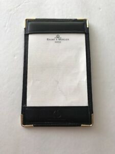 Vintage Baume Mercier Leather Notepad Wallet