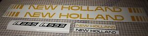 New Holland L555 Skid Steer L 555 Replacement Decal Sticker Kit Made In Usa