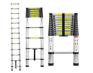 Telescoping Ladder Telescopic Aluminum Extension Loft Extendable Portable New