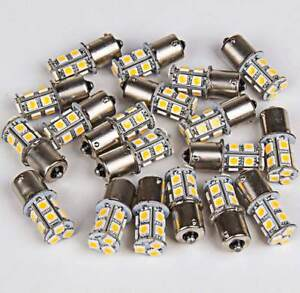 20 X Warm White 1156 Rv Camper Trailer 13 Smd Led 1141 1003 Interior Light Bulbs