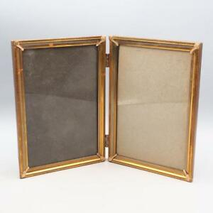 Vintage Goldtone Double Metal Picture Frame For 5x7