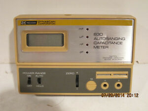 Bk Precision dynascan 830 Autoranging Capacitance Meter 200pf To 20uf free Ship
