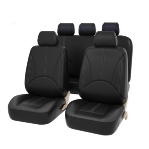 9 Part Universal Pu Leather Car Seat Cover Full Set Front Rear Seat Cushion Mat