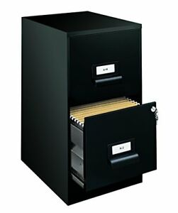 Office Dimensions 18 Deep 2 Drawer Premier Height File Cabinet Black 21644