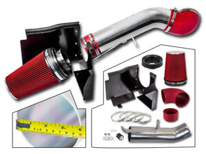 Cold Air Intake Kit Red Fitter For 99 06 Chevy Gmc Sierra 4 8l 5 3l 6 0l V8