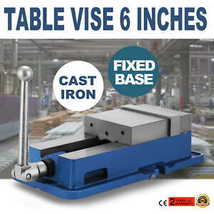 6 Inch Mechanic Bench Vise Table Top Clamp Press Locking Swivel Base Pipe Jaws