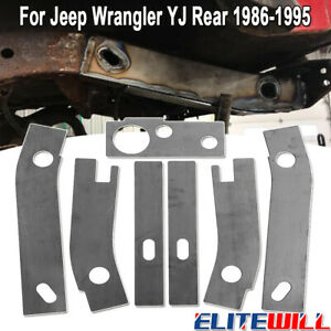 7pcs Frame Repair Rusted Shackle Weld Plates For 86 95 Jeep Wrangler Yj Rear New