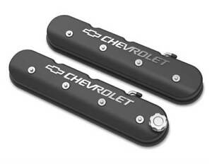 Tall Ls Valve Cover With Bowtie chevrolet Logo Black Satin Finish 241 402