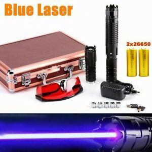 Thor High Power 450nm Blue Laser Pointer Burn Cigarette Light Visible Beam
