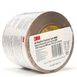 3m 51115316203 All Weather Flashing Tape 8067 Tan 4 In X 75 Ft Slit Liner pack