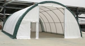 30x65x15 Canvas Fabric Building Shelter Carport Boat Storage Barn Portable