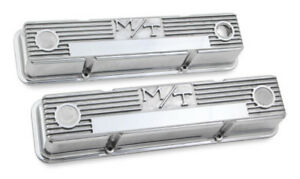 Chevy Small Block M T Finned Vintage Style Valve Covers Holley 241 82