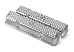 Chevy Small Block Finned Vintage Series Valve Covers Holley 241 244
