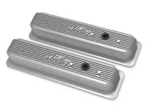 Chevy Small Block Vintage Style Finned Valve Covers Holley 241 246