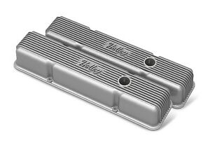Chevy Small Block Finned Vintage Style Valve Covers Holley 241 240
