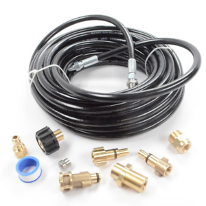 Sewer Line And Drain Jetter Kit 3 16 X 50 Hose With Sewer Nozzle