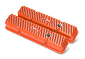 Chevy Small Block Vintage Series Finned Valve Covers Perimiter Bolts 241 239